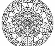 Coloriage et dessins gratuit défi mandala en ligne à imprimer