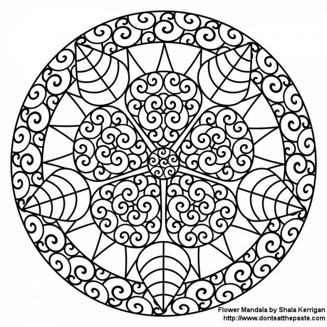 Coloriage et dessins gratuits défi mandala en ligne à imprimer