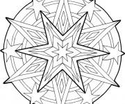 Coloriage Étoile Adulte mandala
