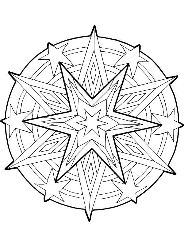 Coloriage et dessins gratuits Étoile Adulte mandala à imprimer