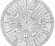 Coloriage et dessins gratuit Mandala adulte défi à imprimer