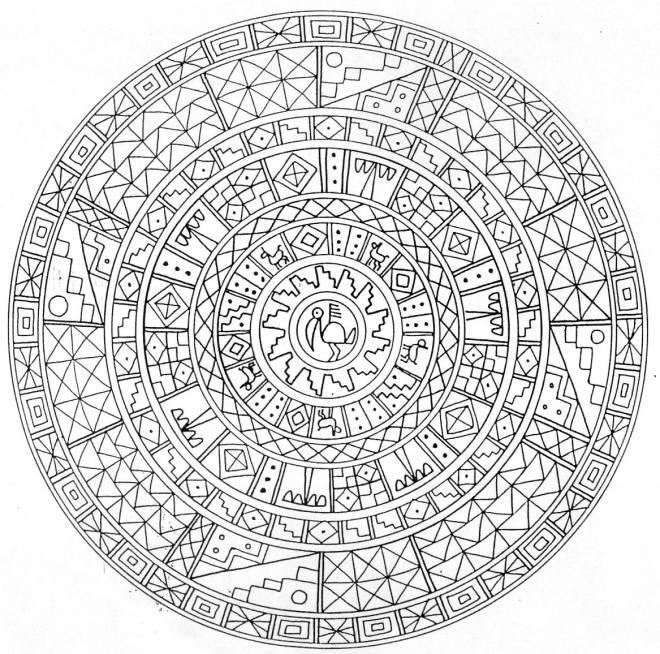 Coloriage et dessins gratuits Mandala adulte défi à imprimer