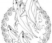 Coloriage et dessins gratuit Mandala Animaux 10 à imprimer