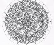 Coloriage et dessins gratuit Mandala Anti-Stress étoile à imprimer