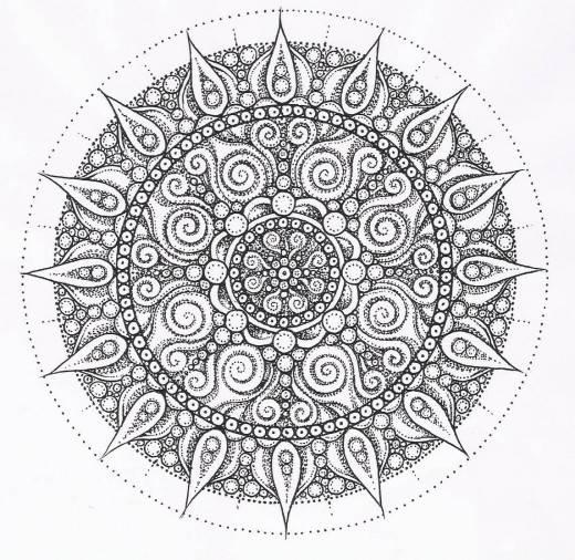 Coloriage et dessins gratuits Mandala Anti-Stress étoile à imprimer