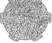 Coloriage et dessins gratuit Mandala de fleurs difficile à imprimer