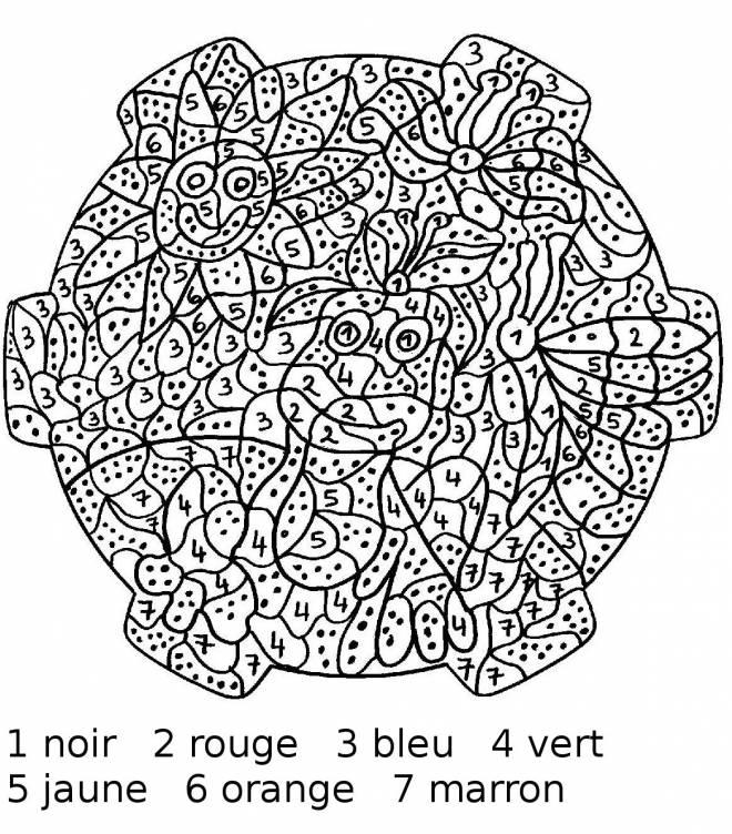 Coloriage et dessins gratuits Mandala de fleurs difficile à imprimer