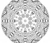 Coloriage Mandala Difficile à télécharger