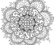 Coloriage Mandala Difficile Flamme