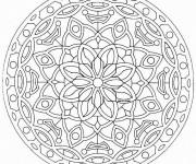 Coloriage et dessins gratuit Mandala Difficile printemps à imprimer