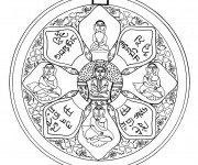 Coloriage Mandala Inde
