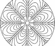 Coloriage et dessins gratuit Mandala pour jeunesse à imprimer