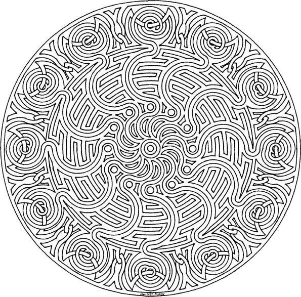 Coloriage et dessins gratuits Mandala relaxant adulte à imprimer