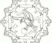 Coloriage et dessins gratuit Mandala Aigle à imprimer