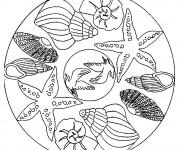 Coloriage dessin  Mandala Animaux 20
