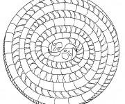 Coloriage dessin  Mandala Animaux 23