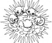 Coloriage Mandala Animaux en Famille