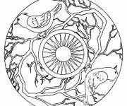 Coloriage Mandala Arbre