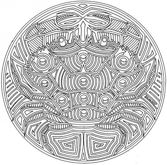 Coloriage Mandala Cancer De Mer Dessin Gratuit A Imprimer