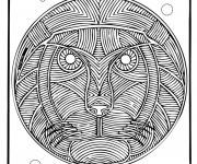 Coloriage Mandala Lion adulte