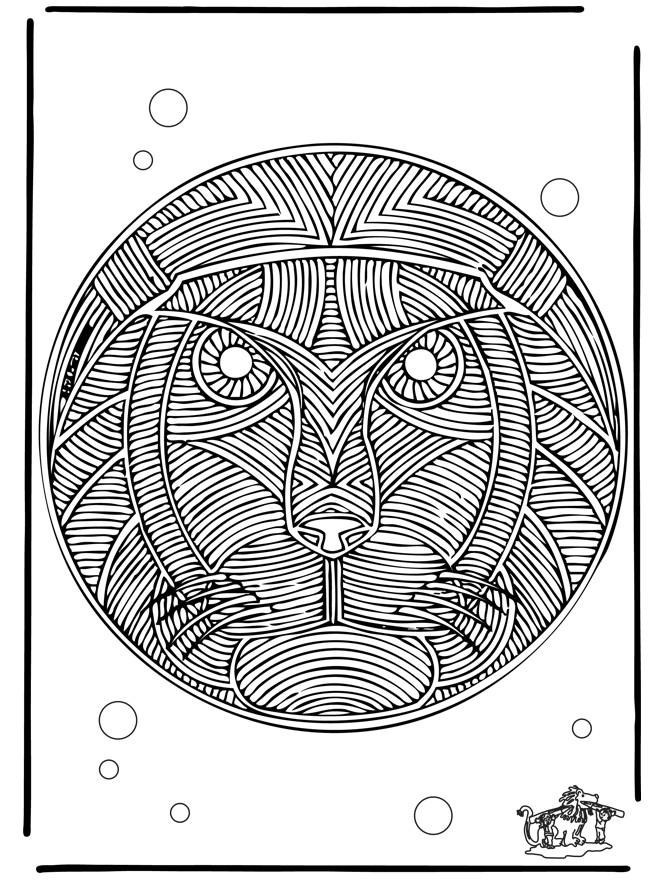 Coloriage et dessins gratuits Mandala Lion adulte à imprimer