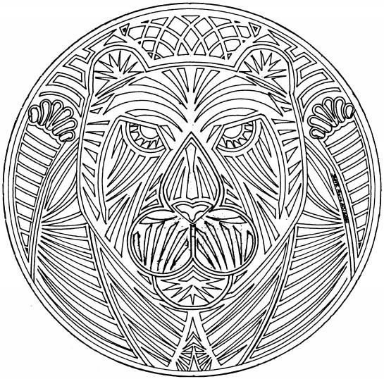 Coloriage et dessins gratuits Mandala Lion difficile à imprimer