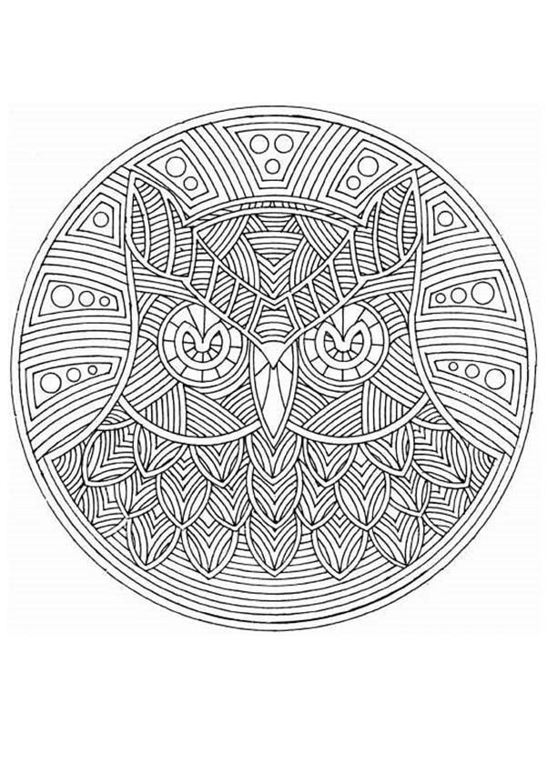 Luxury Coloriage Mandala Animaux Heure Crest - Framing Coloring ...