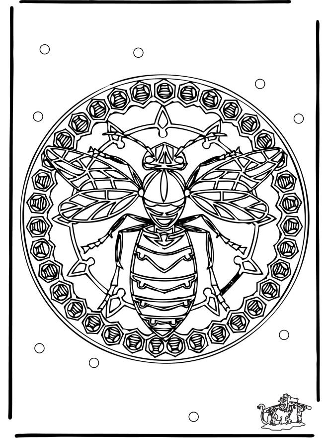 Coloriage et dessins gratuits Mandalas Animaux Abeille à imprimer
