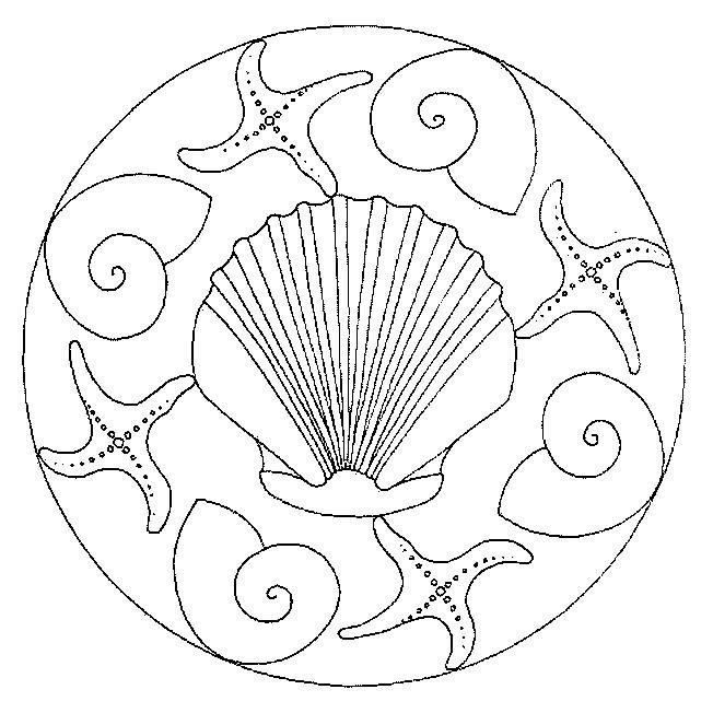 Coloriage et dessins gratuits Mandalas Animaux Coquille à imprimer