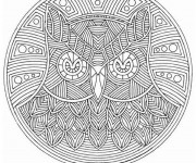 Coloriage Mandalas Animaux Hibou