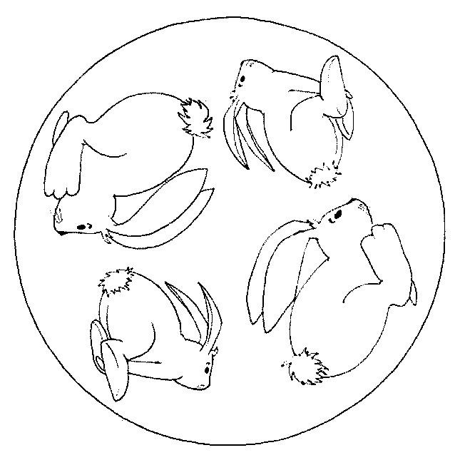 Coloriage Mandalas Animaux Lapin Dessin Gratuit à Imprimer