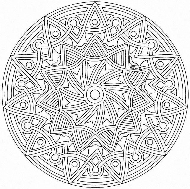 Coloriage Mandalas Difficile Pour Adulte Dessin Gratuit A Imprimer