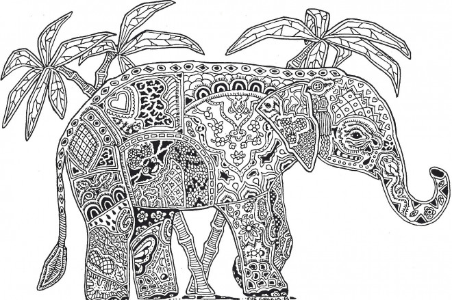 coloriage mandalas l phant indien dessin gratuit imprimer. Black Bedroom Furniture Sets. Home Design Ideas