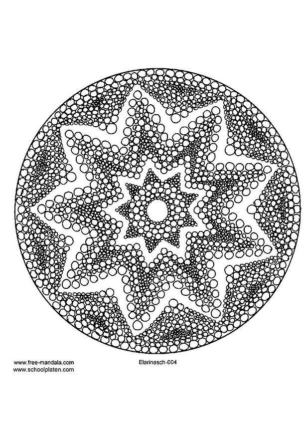 Coloriage Mandalas Etoile De Mer Dessin Gratuit A Imprimer