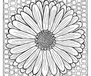Coloriage Mandalas Fleur Printemps