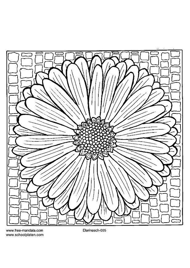 Coloriage et dessins gratuits Mandalas Fleur Printemps à imprimer