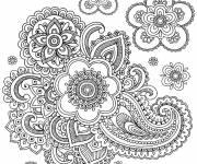 Coloriage et dessins gratuit Adulte Anti-Stress avec fleurs à imprimer
