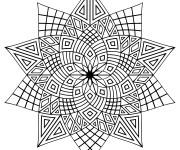 Coloriage et dessins gratuit Adulte Difficile étoiles à imprimer