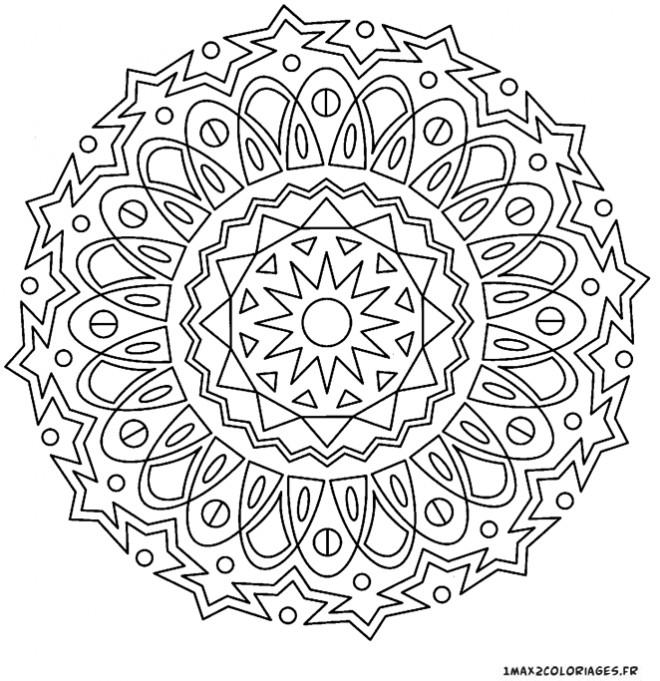 Coloriage et dessins gratuits Adulte Mandala stylisé à imprimer