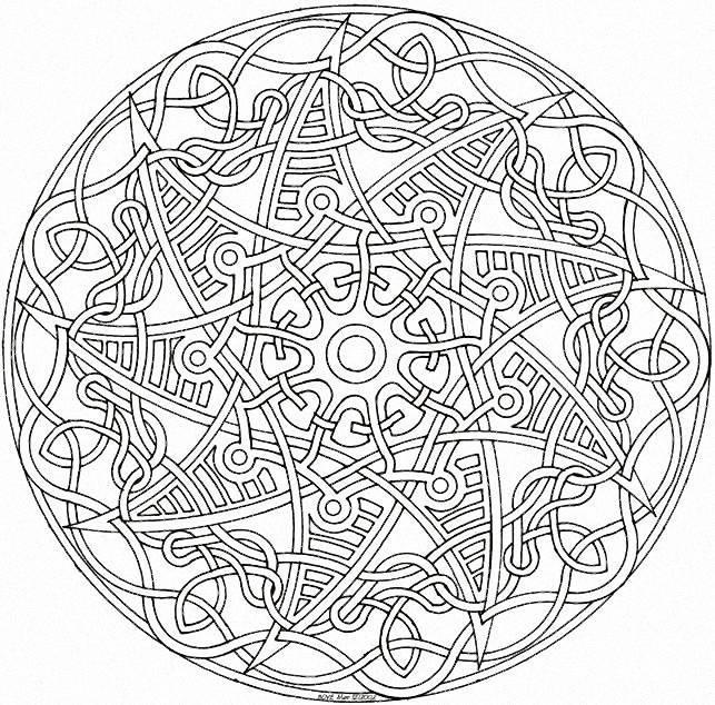 Coloriage et dessins gratuits Difficile Mandala maternelle à imprimer