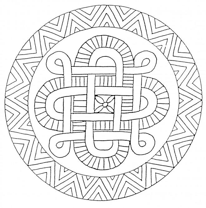 Coloriage et dessins gratuits Labyrinthe  Mandala En Ligne à imprimer