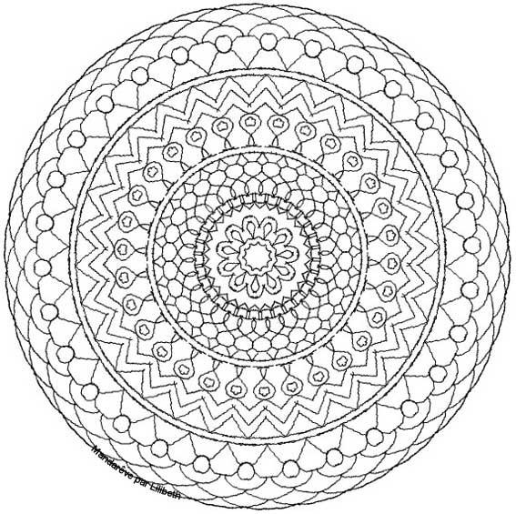 Coloriage et dessins gratuits Mandala Adulte  à colorier à imprimer