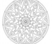 Coloriage Mandala adulte facile