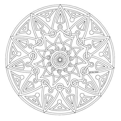 Coloriage et dessins gratuits Mandala adulte facile à imprimer