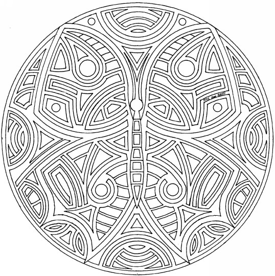 Coloriage et dessins gratuits Mandala Afrique En Ligne à imprimer