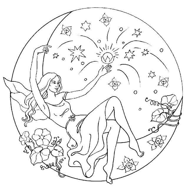 Coloriage et dessins gratuits Mandala Ange Adulte à imprimer