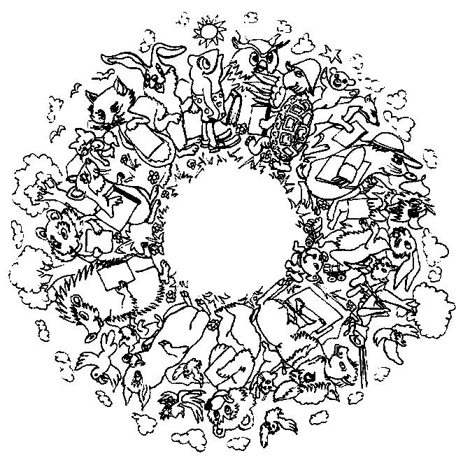 Coloriage Mandala Animaux De La Foret Dessin Gratuit A Imprimer