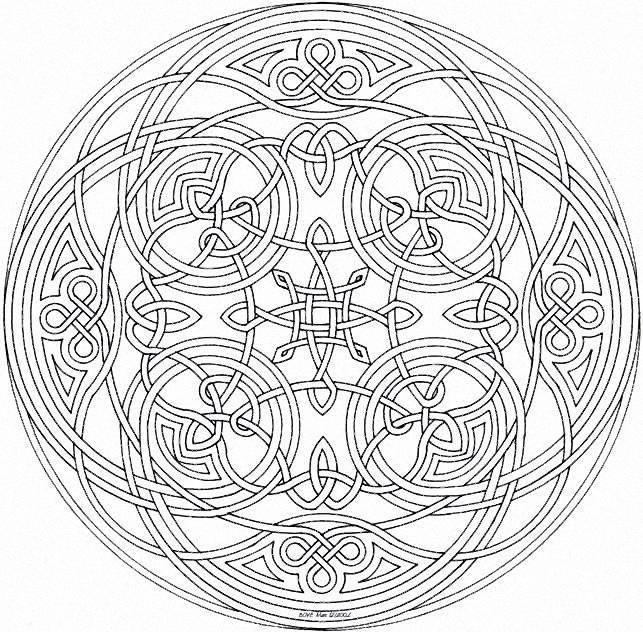 Coloriage et dessins gratuits Mandala art relaxant à imprimer