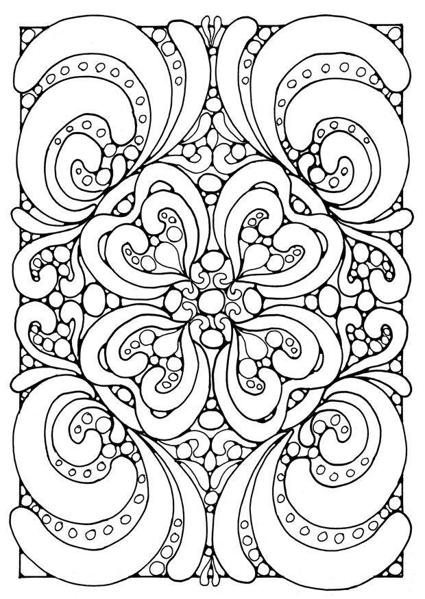 Coloriage et dessins gratuits Mandala Coeurs Difficile à imprimer