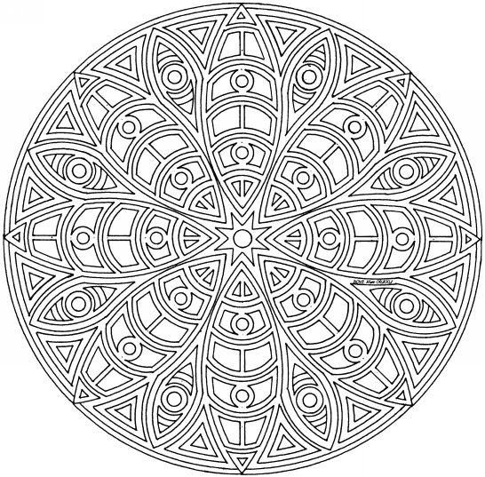 Coloriage et dessins gratuits Mandala Difficile à faire à imprimer